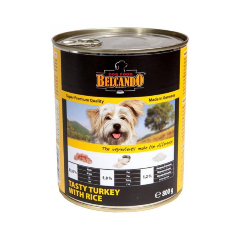Belcando (Белькандо) - Консервированный суперпремиальный корм с вкусной индейкой и рисом для собак всех возрастов