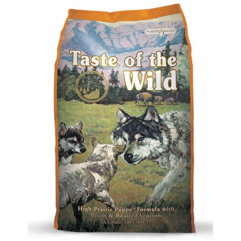 Taste of the wild (Тейст оф зе вилд) High prairie puppy formula - Сухой корм с жареной олениной и мясом бизона для щенков