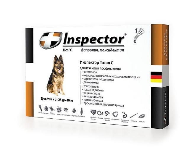 Inspector (Инспектор) Total C - Противопаразитарные капли на холку для собак от блох, клещей и гельминтов (1 пипетка) - Фото 2