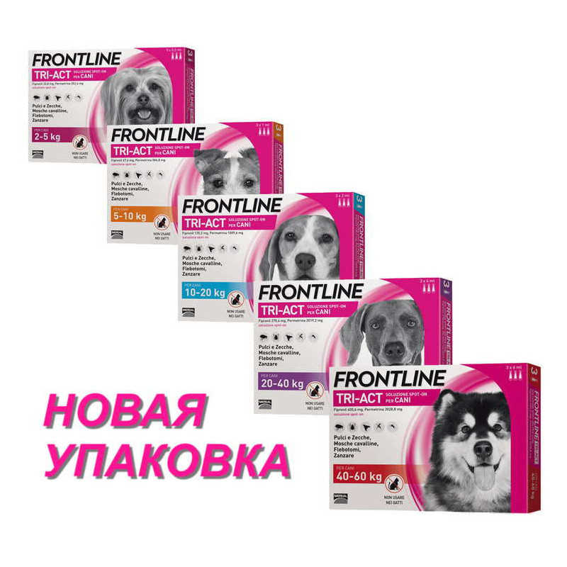 Frontline Tri-Act (Фронтлайн Три-Акт) by Merial. Противопаразитарный препарат от блох, вшей, клещей и комаров для собак - Фото 10