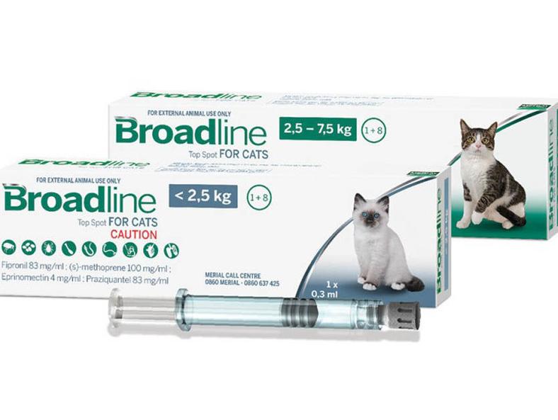 Broadline (Бродлайн) by Merial BROADLINE spot-on. Противопаразитарные капли Бродлайн спот-он от внешних и внутренних паразитов у кошек
