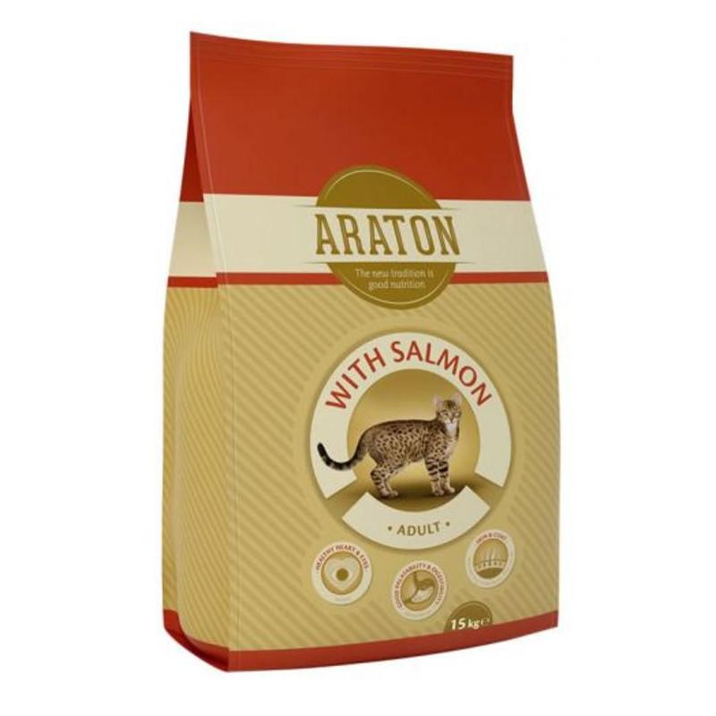 Araton (Аратон) Adult Salmon - Сухой корм с лососиной и рисом для взрослых котов