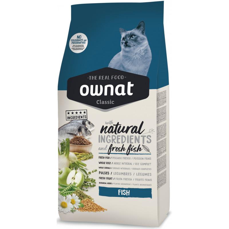 Ownat (Овнат) Classic Cat Adult Fish - Сухой корм премиум класса с рыбой для кошек