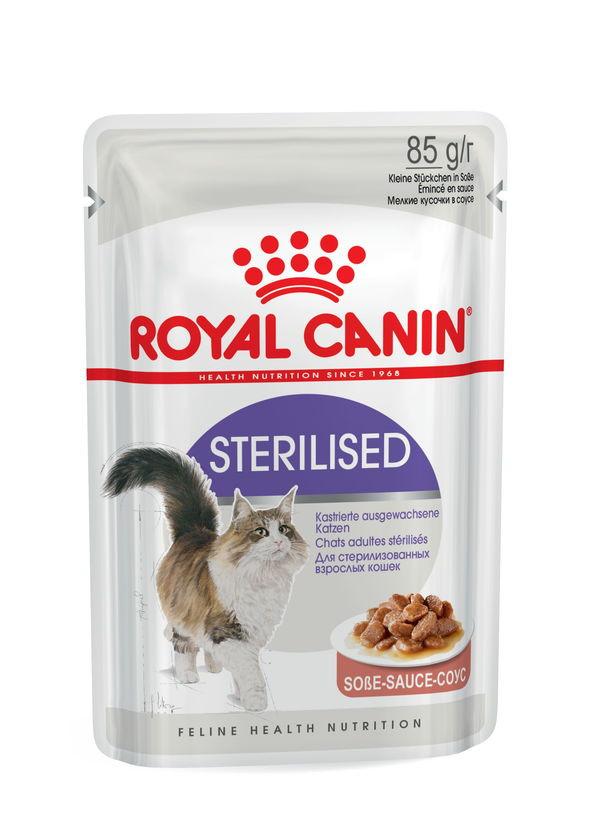 Royal Canin (Роял Канин) Sterilised - Консервированный корм для взрослых стерилизованных кошек (кусочки в соусе) - Фото 2