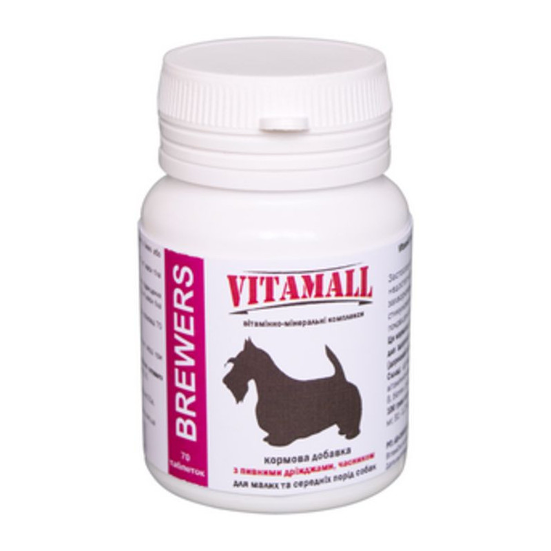 VitamAll (Витамол) Brewers Витаминный комплекс для собак мелких и средних пород