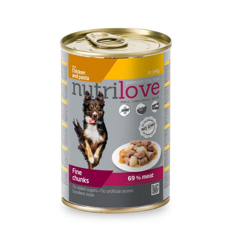 Nutrilove (Нутрилав )Chicken and pasta in jelly - Консервы для собак с курицей и макаронными изделиями