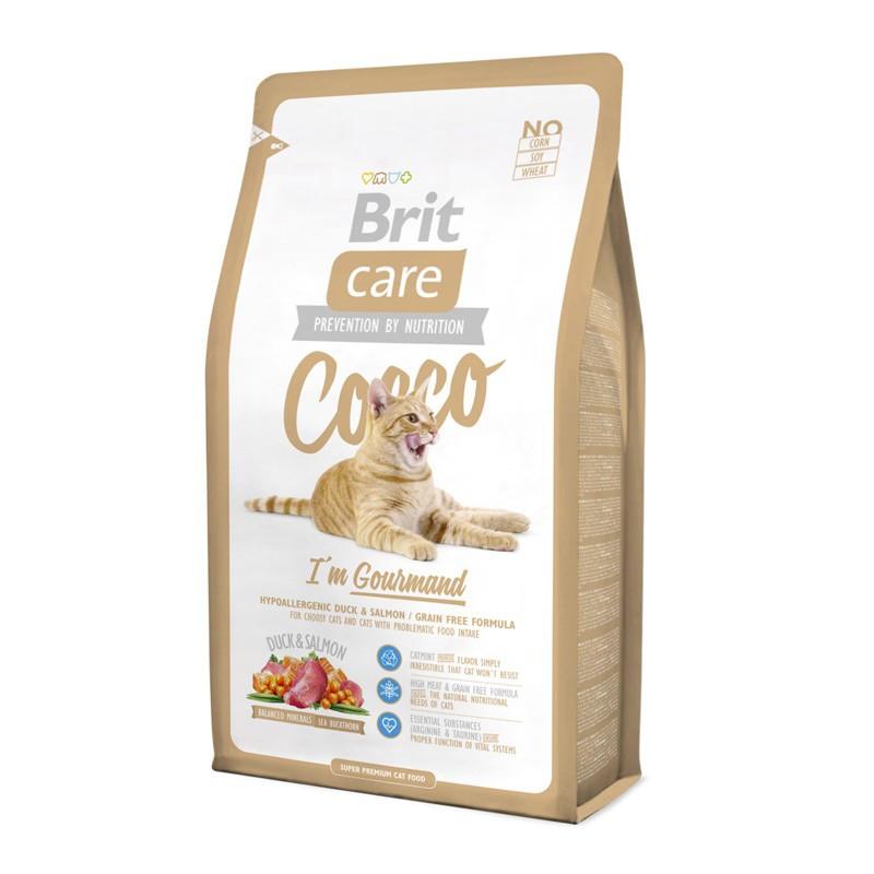 Brit Care (Брит Кеа) Cocco - Сухой корм с уткой и лососем для кошек с чувствительным пищеварением