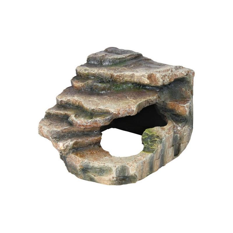 Trixie (Трикси) Decoration Corner Rock with Cave and Platform - Декорация скала с пещерой и платформой для террариума высотой 20 см