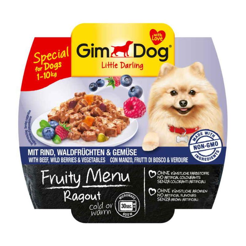 GimDog LITTLE DARLINGD Fruity Menu  рагу с говядиной, лесными ягодами и овощами для собак мелких пород