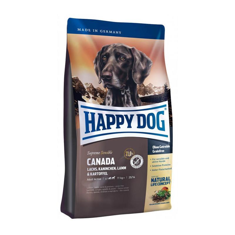 Happy Dog (Хеппи Дог) Supreme Sensible Canada - Сухой корм с картофелем, лососем и ягненком для взрослых собак, мультипротеиновая формула