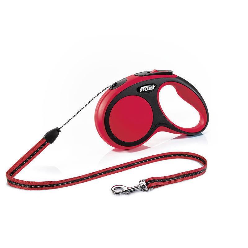 Flexi (Флекси) New Comfort S - Поводок-рулетка для собак мелких пород, трос (5 м, до 12 кг)
