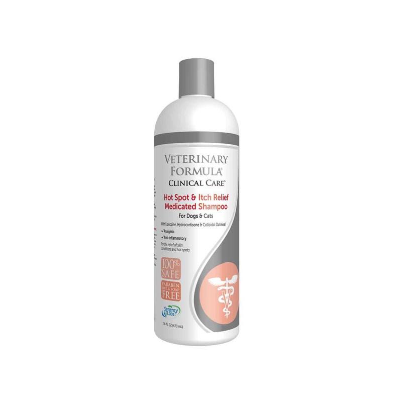 Veterinary Formula (Ветеринари Формюлэ) HOT SPOT&ITCH RELIEF Shampoo - Шампунь антиаллергенный, противовоспалительный для собак