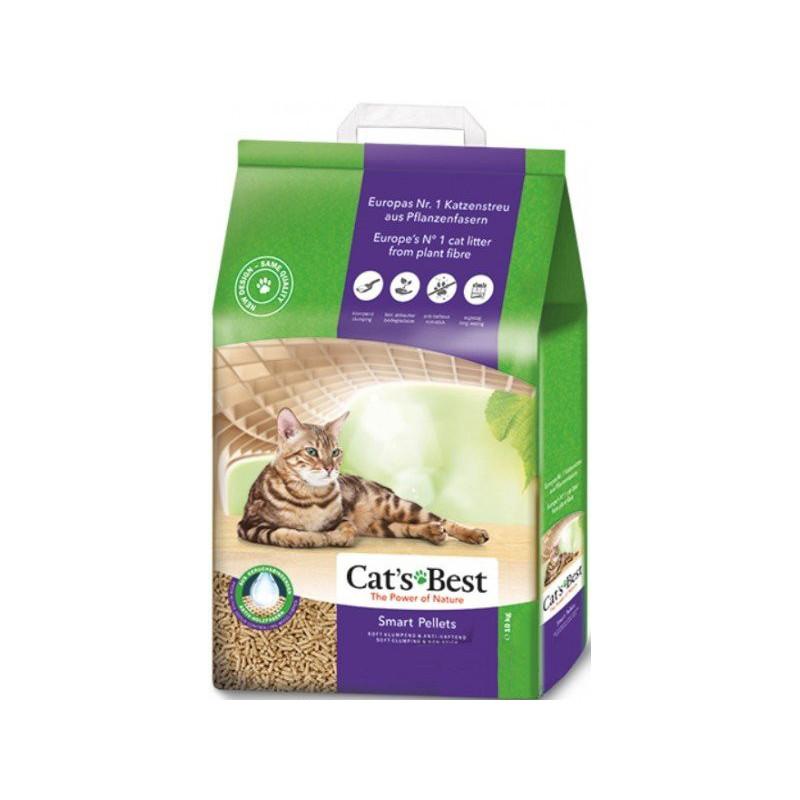 Cat's Best (Кетс Бест) Smart Pellets - Наполнитель древесный гранулированный комкующийся для кошачьего туалета