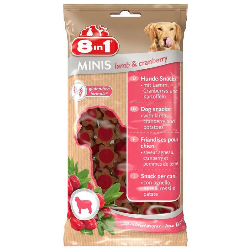 8in1 Minis Lamb&Cranberry лакомство для собак, ягнёнок и клюква