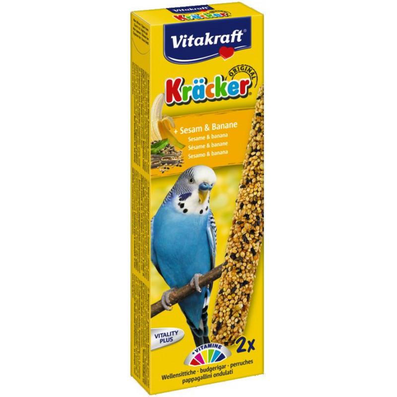Крекер VITACRAFT для волнистых попугаев с кунжутом и бананом