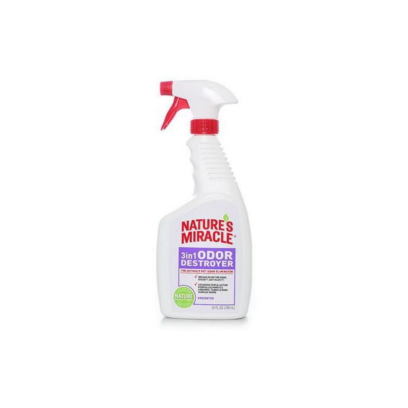 Natures Miracle (Нейчерс Миракл) 3in1 Odor Destroyer Средство для удаления запахов животных (без аромата)