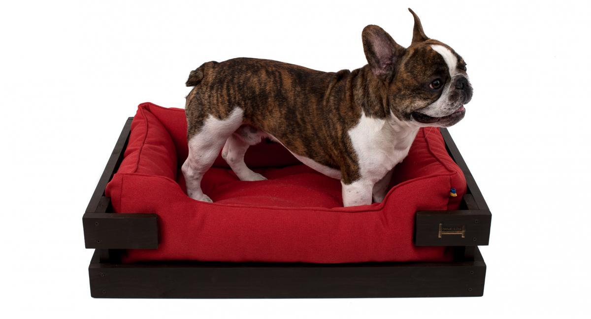 Лежак в каркасе мебельная рогожка (тёмное дерево) HARLEY & CHO DREAMER для котов и собак - Фото 13