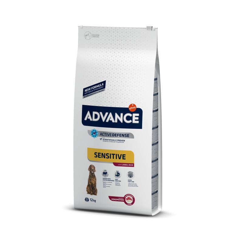 Advance (Эдванс) Dog Sensitive Lamb&Rice - Корм для взрослых собак с чувствительным пищеварением с ягненком и рисом