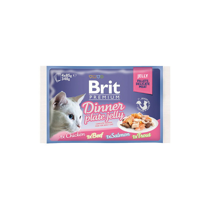 "Brit Premium Brit Premium (Брит Премиум) Cat Dinner Plate Jelly - Набор паучей ""Обеденная тарелка"" в желе для кошек"