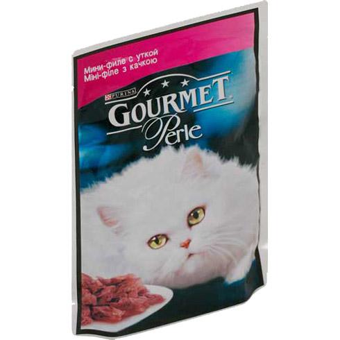 Gourmet PERLE (Гурмет Перл) - Пауч с мини-кусочками филе утки в желе для кошек