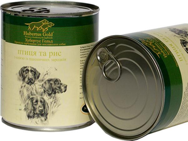 """Hubertus Gold (Хьюбертус Голд) Консервированный корм """"Птица и рис"""" для активных собак - Фото 2"""