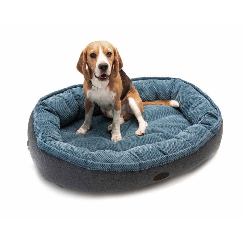 HARLEY & CHO Donut Soft Touch Ocean - Овальный лежак для собак (голубой)