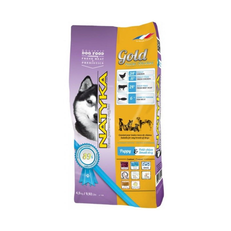 Natyka (Натика) Gold Puppy & Small Dogs - корм для щенков и собак мелких пород