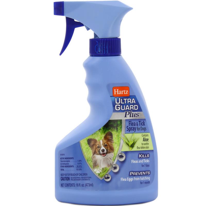 Hartz (Хартц) Ultra Guard Plus Spray Dog - Спрей для собак всех возрастов и пород против блох и клещей с алое