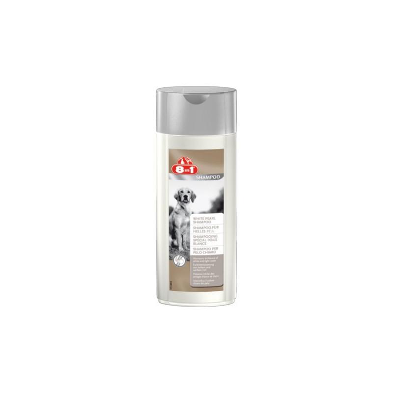 8in1 White Pearl шампунь для собак со светлой шерстью
