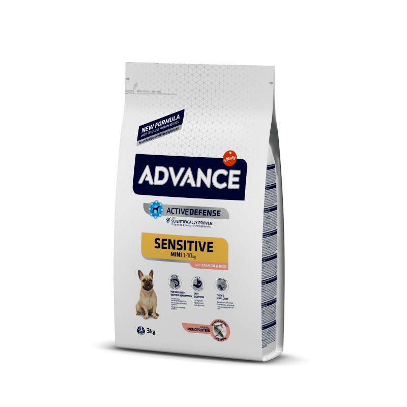 Advance (Эдванс) Dog Sensitive Mini Корм для взрослых собак маленьких пород с чувствительным пищеварением