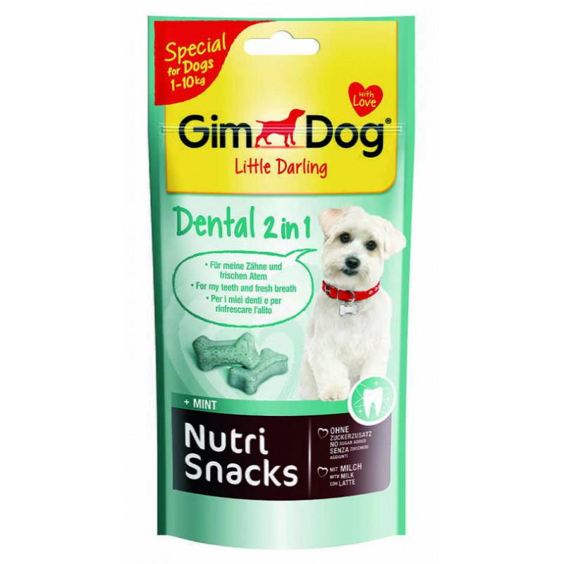 GimDog LITTLE DARLINGD Nutri Snacks Dental Лакомство для здоровья зубов и свежести дыхания собак мелких пород