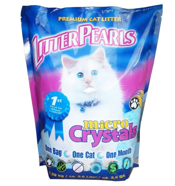 Litter Pearls (Литтер Пирлс) Micro Crystals. Наполнитель кварцевый для кошачьего туалета