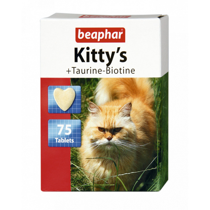 Таблетки Beaphar Kittys Taurin and Biotin